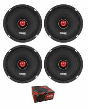 "4x 6.5"" Mid range Full Range Speakers Loud 600W Bullet 4 Ohm DS18 PRO-X6.4BM"