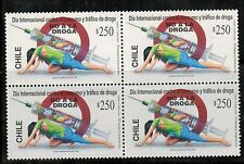Chile 1996 No a la Droga - Not the drug MNH x4 (A-320)