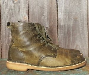Clarks Originals Green Leather X DESERT MALI Chukka BOOTS Men's sz 9.5