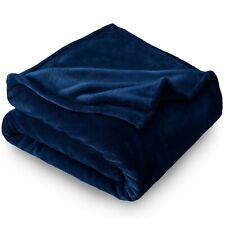 "Microplush Bed Blanket - Threshold (Full/Queen 90"" x 92"", Dark Blue)"