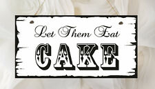 Hand Made Shabby Plaque Wedding Let Them Eat Cake Present Chic Gift Love Guests