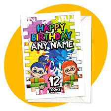 Inkling Boy & Girl - PERSONALISED BIRTHDAY CARD - Splatoon nintendo personalized