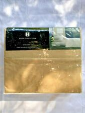 NWT** Hotel Collection - Solid 525 TC - King Sheet Set - Light Brown - MSRP:$285