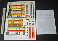 1980s Vintage Gelenkmotorwagen Typ Be 4/6 Schindler. Swiss Basel Tram Streetcar