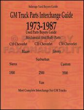 1973-1987 GMC and Chevy Truck Parts Interchange Manual Pickup Suburban Blazer