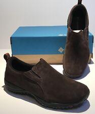 NIB Columbia Elm Grove Moc Men Slip On Shoe SIZE 8 Suede Leather