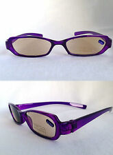 +2.50 Purple Slim Tinted Reading Glasses Ready SUN Readers +2.5 M