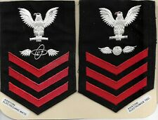 U.S.Navy Insignia. 2 Petty Officer ranks.