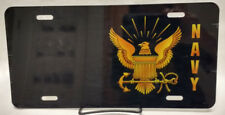 US Navy black/gold  manufactured airbrushed license plate - CLOSEOUT