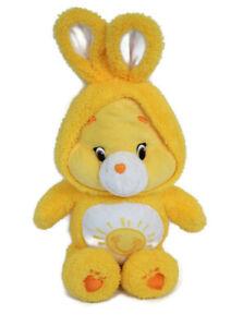 "Care Bears Just Play Funshine In Costume Jumbo Plush 18"" Yellow Bunny Ears"