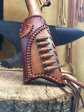 Leather Gunstock Cover shell Holder Winchester Marlin Rossi Henry Uberti Stoeger