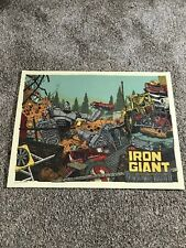 The Iron Giant LandLand Mondo Signed and numbered metallic inks