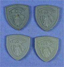 CITADEL - Marauder Undead Shields - 4 x Wraith w/ Sickle Design - Plastic 1990s
