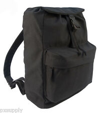 daypack black canvas backpack military style rothco 2369