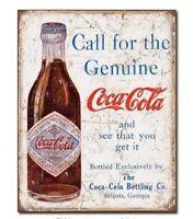 COKE COCA COLA SODA POP GENUINE TIN SIGN METAL POSTER ART RESTAURANT DECOR