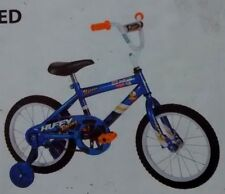 "HUFFY~UPROAR~RACING GRAPHIC~KIDS~16""BIKE~TRAINING WHEEL BICYCLE+LIGHTS~PADS~BELL"