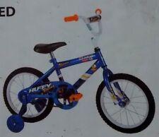 "HUFFY~UPROAR 2~RACING GRAPHIC~KID BOYS~16""BIKE~TRNG WHEEL BICYCLE+LIGHT PAD BELL"