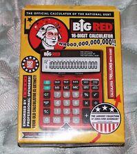 Big Red Official Calculator of the National Debt Calculator Solar Battery EUC
