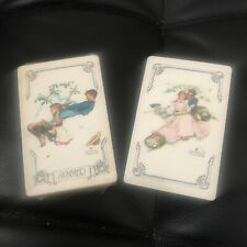 2 Vintage Deck playing cards Norman Rockwell Trump Spring Summer Sealed
