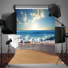 7x5ft Sunny Sea Beach Vinyl Photography Backdrop Photo Background Studio Props