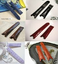 21mm 20mm or 18mm Genuine Leather Band Strap bracelet (fits) Cartier Pasha