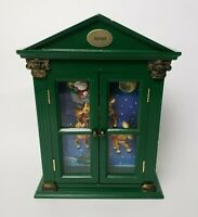 Mr Christmas Rudolph Animated Singing Curio Cabinet Plays Rudolph the Red Nosed