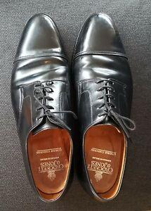 CROCKETT & JONES BRADFORD Black Shell Cordovan Shoes 10.5 E Fitting & Bags