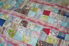 """Vintage Antique Primitive Multi-Color Sewn Quilt 72"""" x 50"""""""