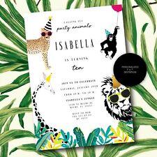 Party Animal Invitation, Personalized Animal Birthday, Animal Printable Invite