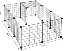 Pawhut DIY Pet Playpen Metal Wire Fence 12 Panel Enclosure Indoor Outdoo