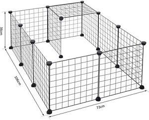 Pawhut DIY Pet Playpen Metal Wire Fence 12 Panel Enclosure Indoor Outdoo