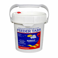 "Robelle 1"" Feeder Tabs Swimming Pool Chlorine Sanitizer Chemical - 5 Lbs."