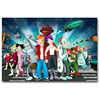 Futurama Characters Cartoon Art Silk Poster 12x18 24x36 inch 025
