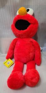 """NEW Vintage Playskool Sesame Street 36"""" Stuffed Elmo With Tag"""