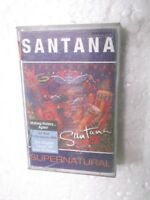 SANTANA  SUPERNATURAL  2000 RARE orig CASSETTE TAPE INDIA indian