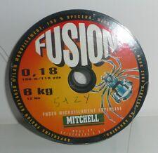 Tresse Mitchell Fusion 0,18mm 6.000kg 100m vert foncé