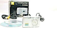 Nikon Coolpix S3300 Digital Camera NO Battery