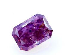 Ultra Rare Purple Diamond 0.38ct Natural Loose Fancy Deep Pink purple Color GIA