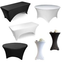 Cocktail Round Rectangular Spandex Stretch Wedding Party Tablecloth Cover