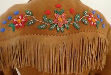 SUPERB Native INDIAN Cree PLAINS BEADED MOOSEHIDE Antique Leather FRINGE Jacket