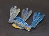 2 X Lapis Lazuli Stone Carved Angel Reiki Psychic Spiritual Gemstone Guardian