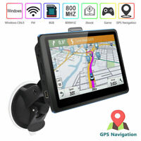 5'' Portable Car GPS Navigation Auto Navigator Nav 8GB 128MB RAM with Free Map