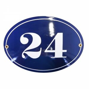 Porcelain address plaque 5.9x8.3″ customisable handmade enamel house number sign