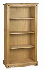 Mercers Furniture Corona Mexican Solid Pine Medium 3 Shelf Bookcase
