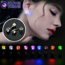 1/3/10 Pairs LED Light Up Ear Studs Earrings for Dance Christmas Halloween Party