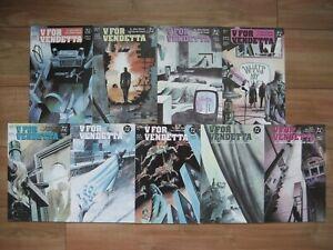 V For Vendetta 2 3 4 5 6 7 8 9 10 Full Run DC Comics 1988 Alan Moore 1st Print