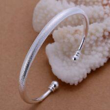 Women's Mens Unisex 925 Sterling Silver Bracelet Adjustable Size L30