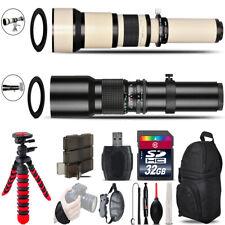 500mm-1300mm Telephoto Lens for Rebel T5 T5i + Flexible Tripod & More - 32GB Kit
