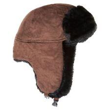 Unisex 60 cm Brown Micro Camoscio Trapper Hat
