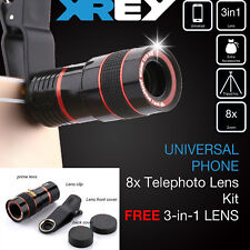 Clip-on 8x Zoom Optical Telescope Camera Lens Universal for iPhone Samsung